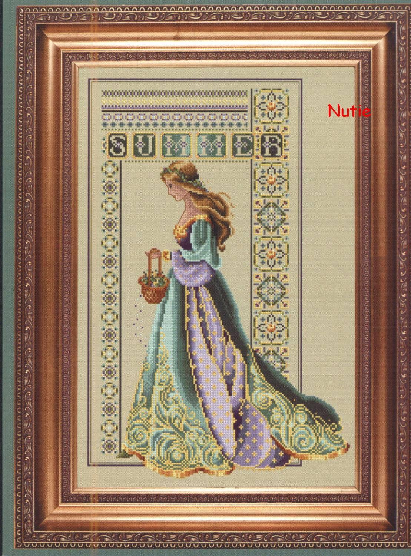 Девушка весна лето вышивка крестом