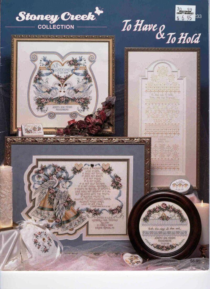 Схемы вышивок на свадебную тематику